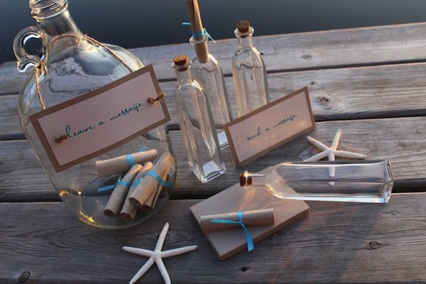 message in a bottle guestbook alternative
