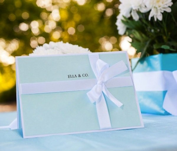 tiffany inspired bridal shower inviations