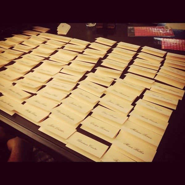 escort card organization
