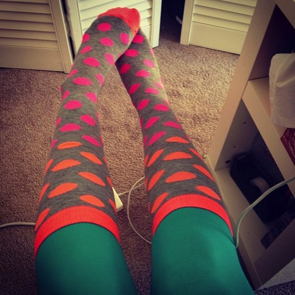 weird socks colored tights