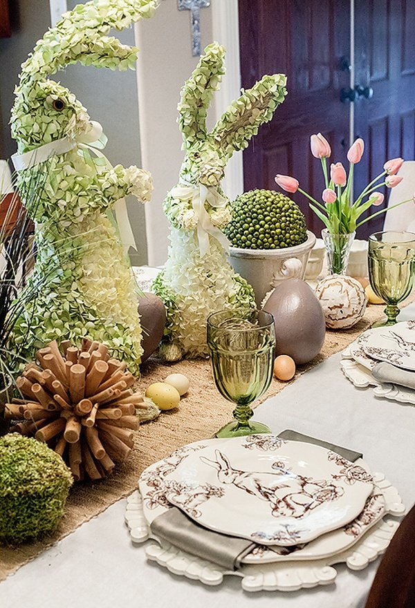 elegant easter tablescape