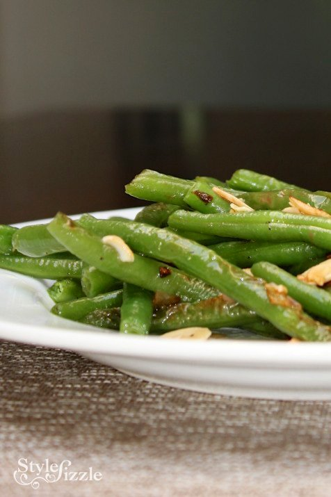 sauteed green beans garlic shallots slivered almonds