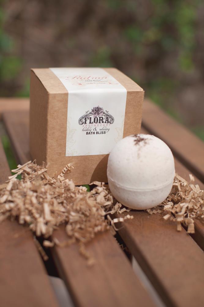 flora apothecary bath bomb