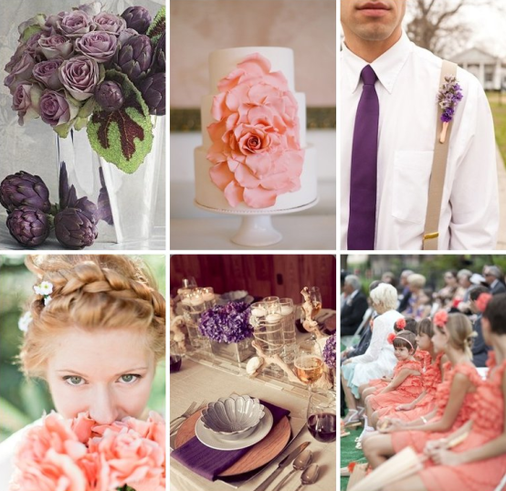 Plum-and-Coral-Wedding