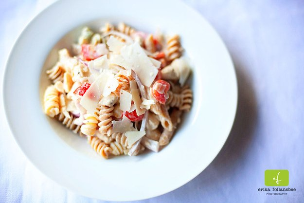 chicken ceasar pasta salad