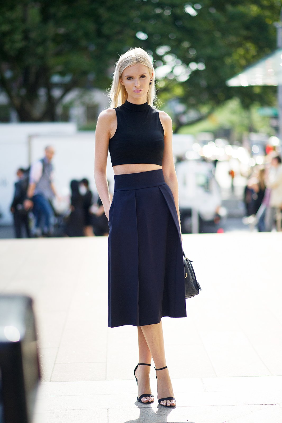 Crop Top With High Waisted Maxi Skirt - Dress Ala