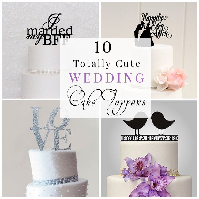 10 cute wedding cake topper ideas