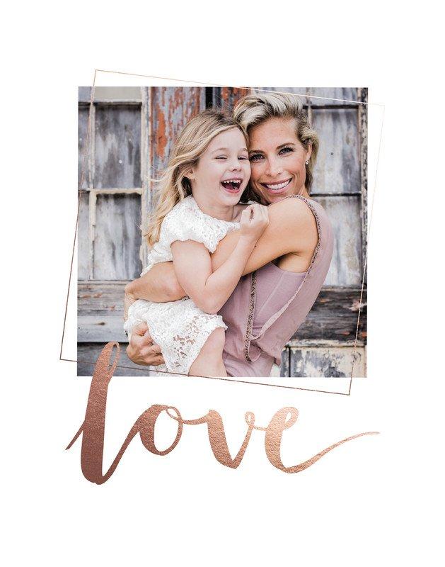 minted love foil print
