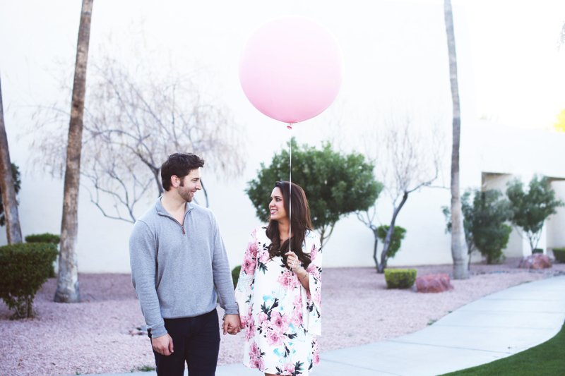 baby girl announcement idea, click to see the rest of this gender reveal shoot1