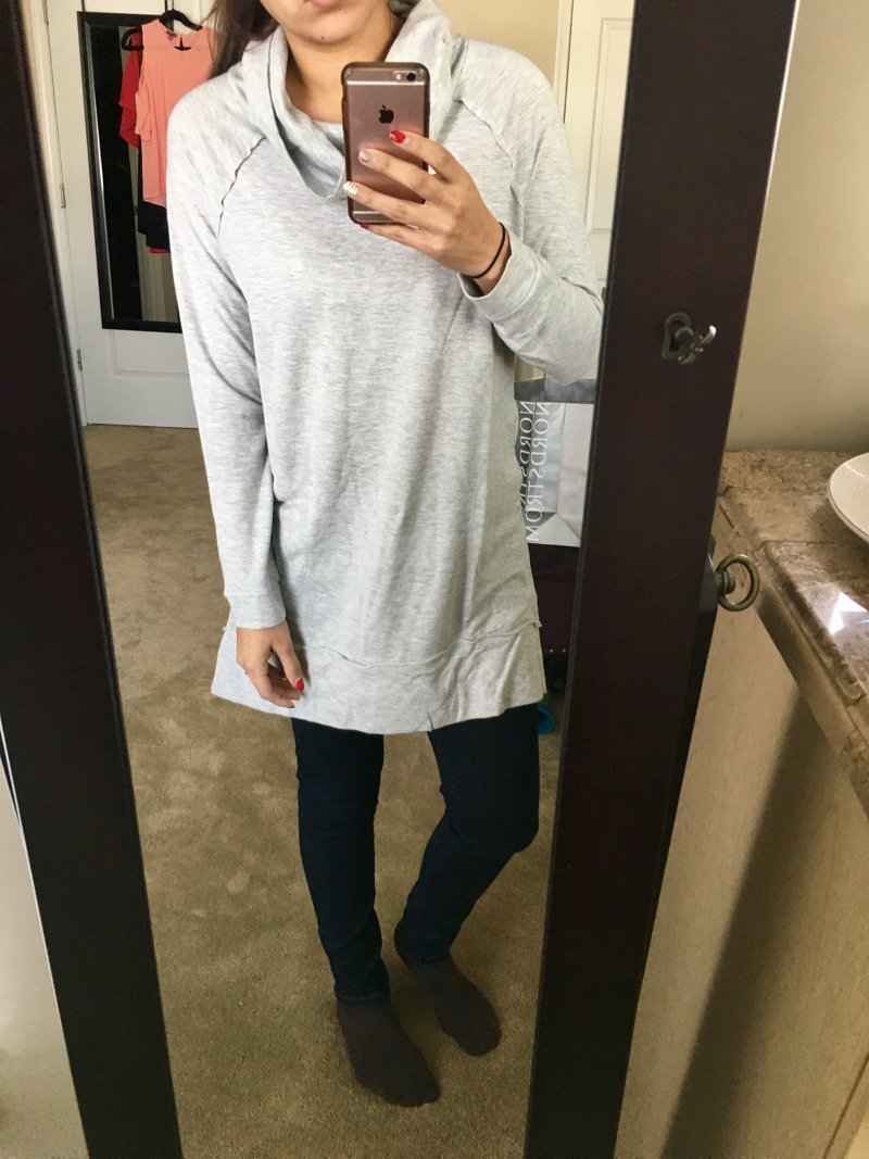 Cute comfy sweatshirt. Click to see the rest of my haul in this trunk from Trunk Club for women