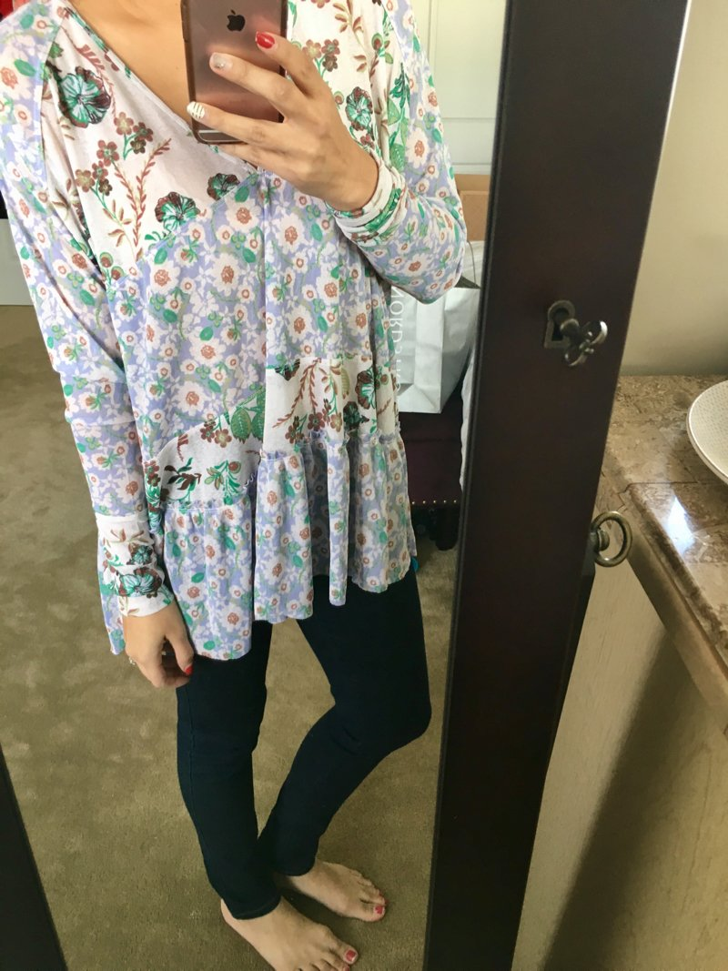 Free People isabella tunic, click to see more photos from my Trunk Club maternity-friendly haul!