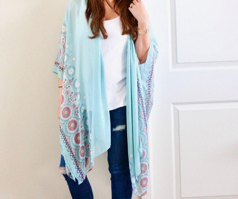 Pink Blush kimono + my 26 week pregnancy update