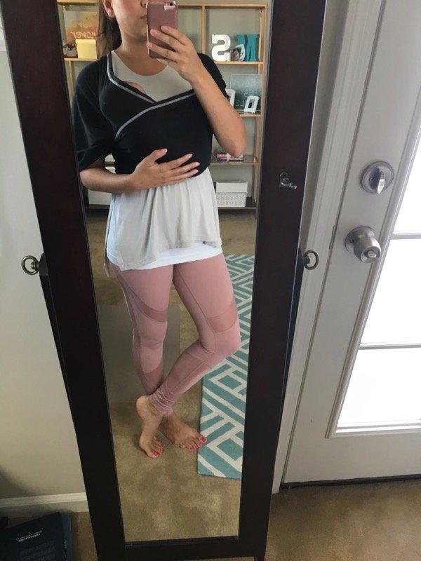Zella pink leggings high waist