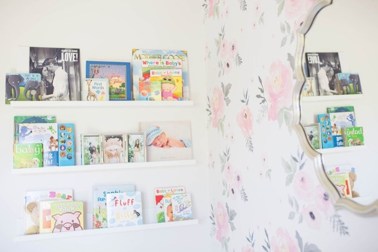 Floral nursery inspiration. Click to see this beautiful baby girl nursery reveal!