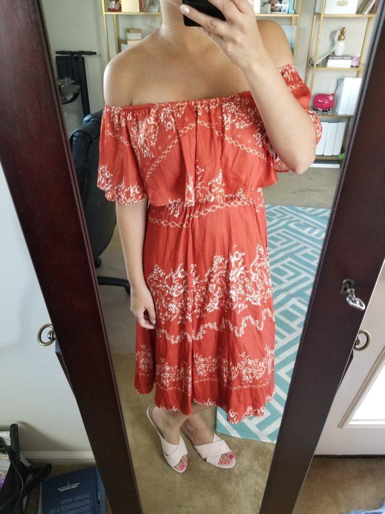 Tularosa Jacqui floral print cold shoulder dress