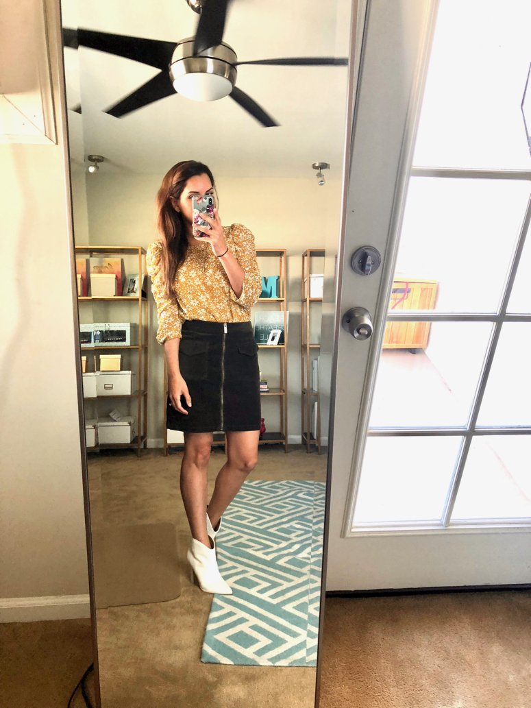 Trunk Club October Haul Vince Camuto Miniskirt