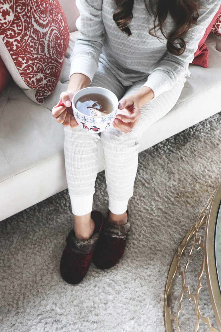 Staying comfy and cozy all winter long in my Isotoner slippers | LifewithMar.com