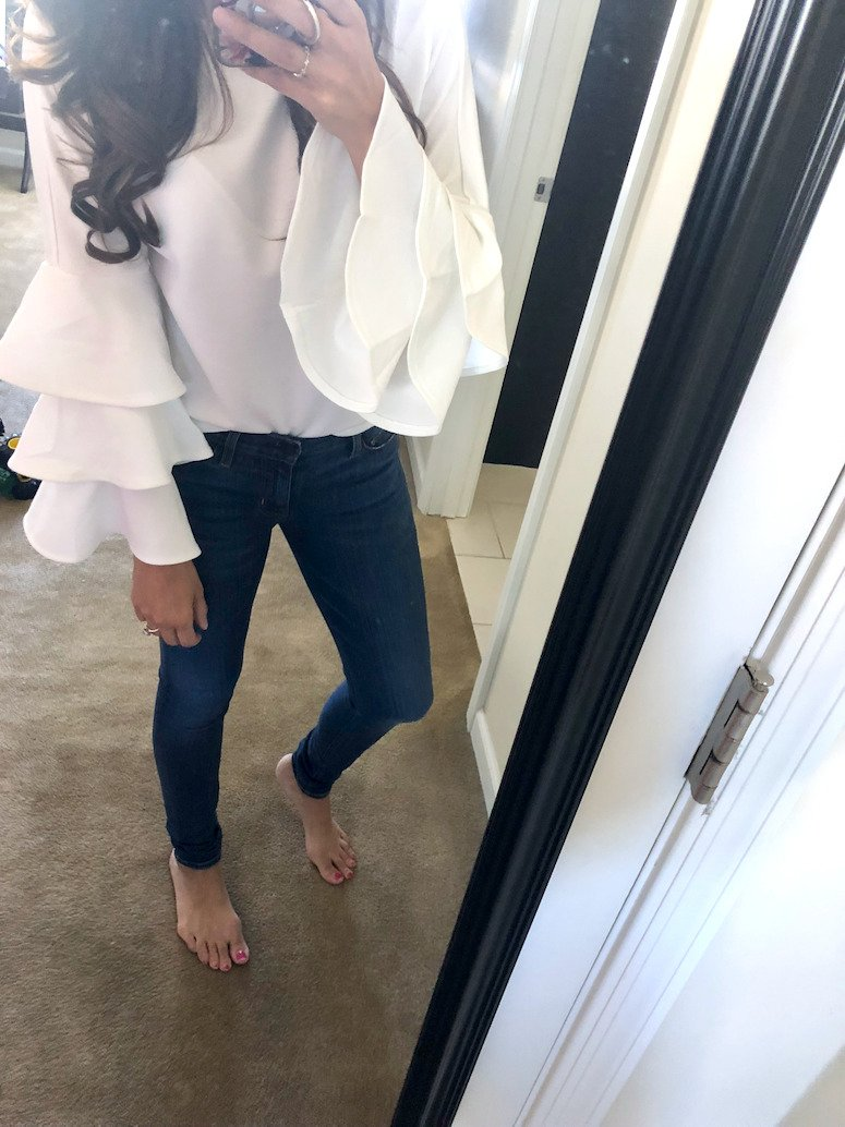 long sleeve ruffle sweater from Amazon sweaters under $50