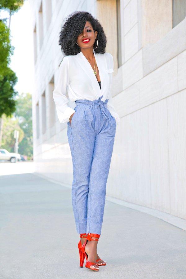 7 ways to wear paper bag waist pants | paper bag waist pants outfits | lifewithmar.com