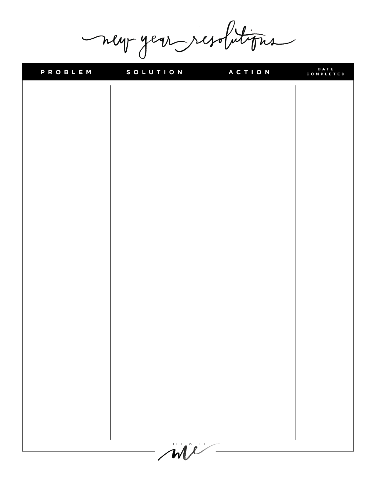 12 Step Worksheet Printable