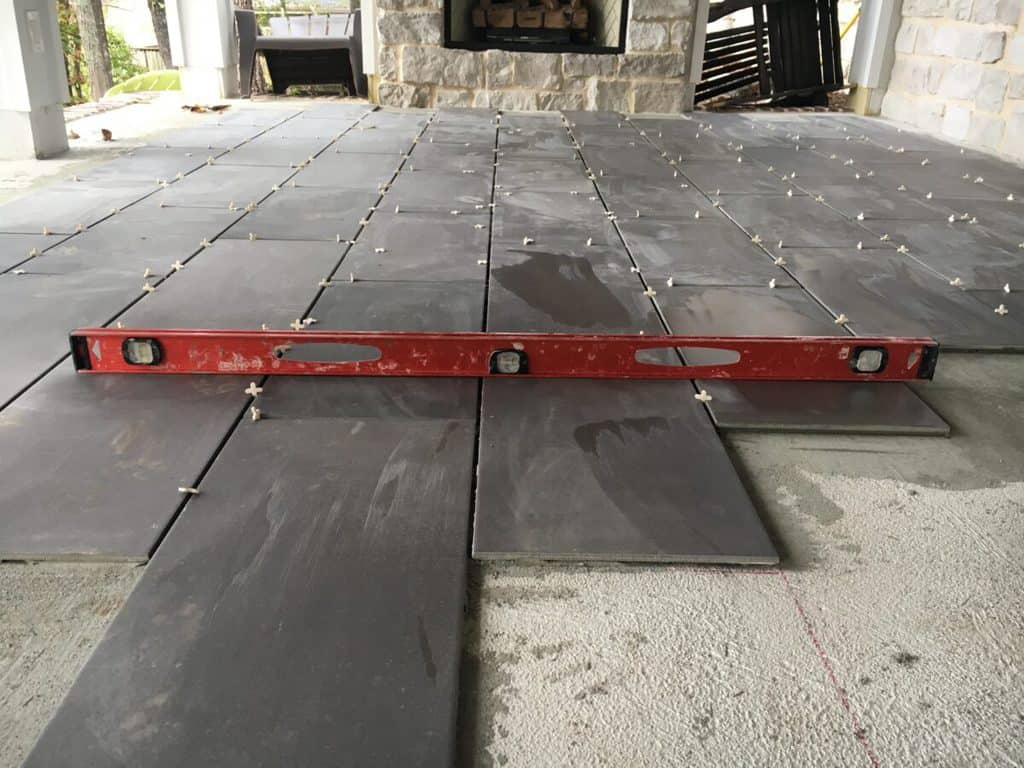 how to install tile on a porch floor