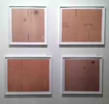 I imagine that the purchaser of these framed cardboard boxes would receive the art, shipped in a cardboard box.