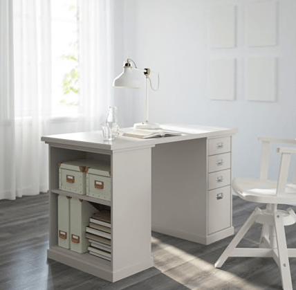 Desk With Display Storage