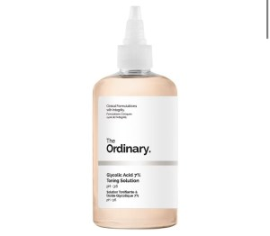 Glycolic acid 7% toning solution from the ordinary skincare routine