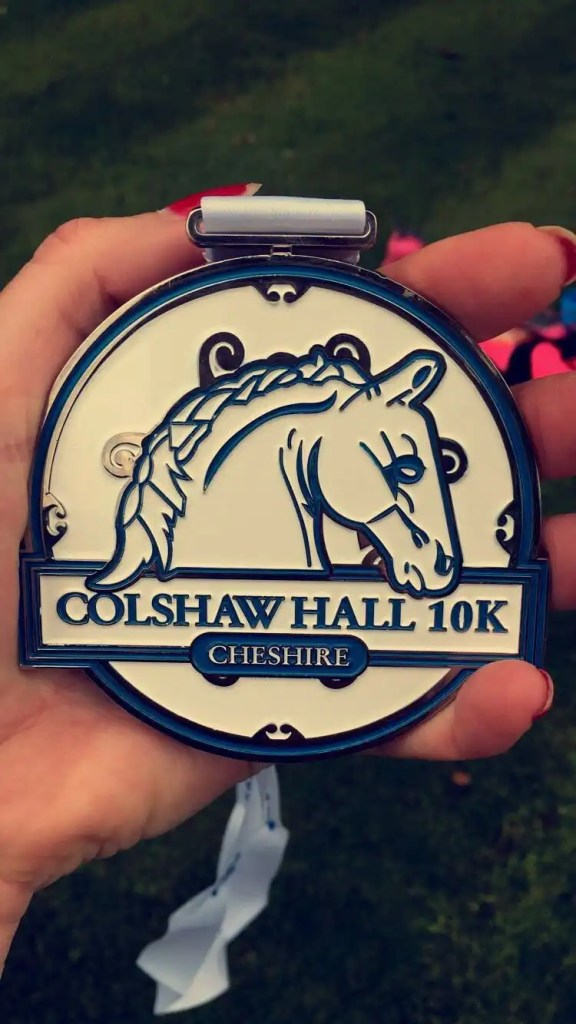 Colshaw Hall 10K medal