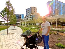 "Always a good time for a ""daddy with stroller"" shot. :)"