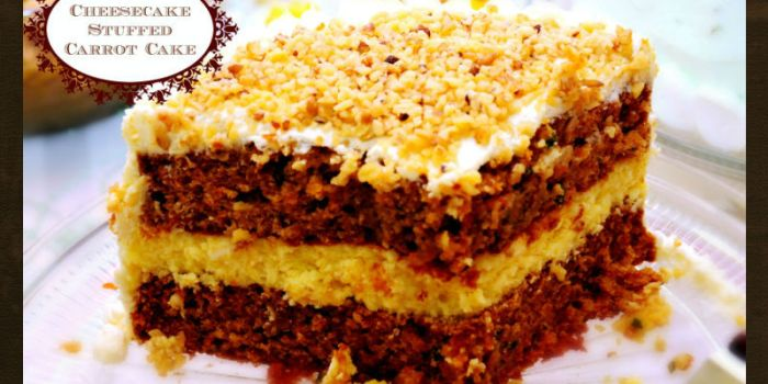 Cheesecake Stuffed Carrot Cake