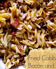 Fried Cabbage with Bacon and noodles