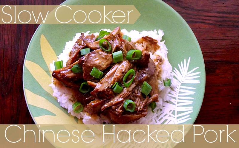 Slow Cooker Chinese Hacked Pork