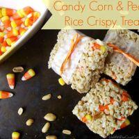 Candy Corn & Peanut Rice Crispy Treats