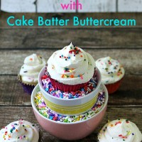 Sprinkle Cupcakes with Cake Batter Butter-cream