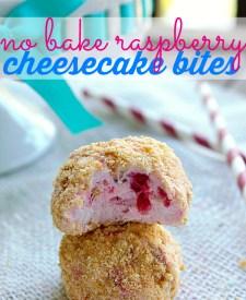 No Bake Raspberry Cheesecake Bites