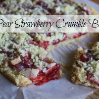 Pear Strawberry Crumble Bars~Moira