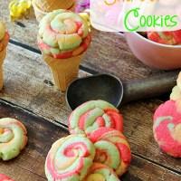 Rainbow Sherbet Cookies