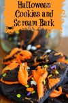 Halloween Cookies and Scream Bark