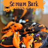Halloween Cookies and Scream Bark
