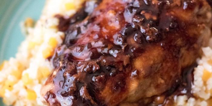 Molasses Glazed Chicken with Starch Alternative