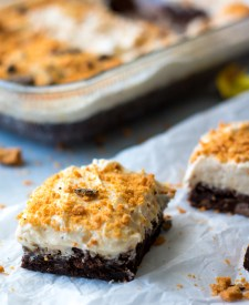 Loaded Butterfinger Dark Brownies-5