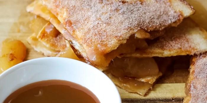 Caramel Apple Pie Quesadillas