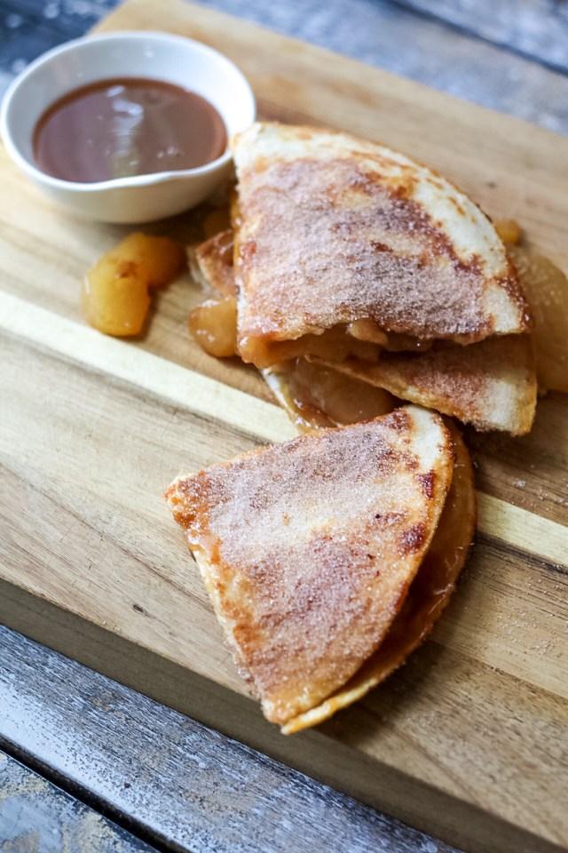 Caramel Apple Pie Quesadillas-6