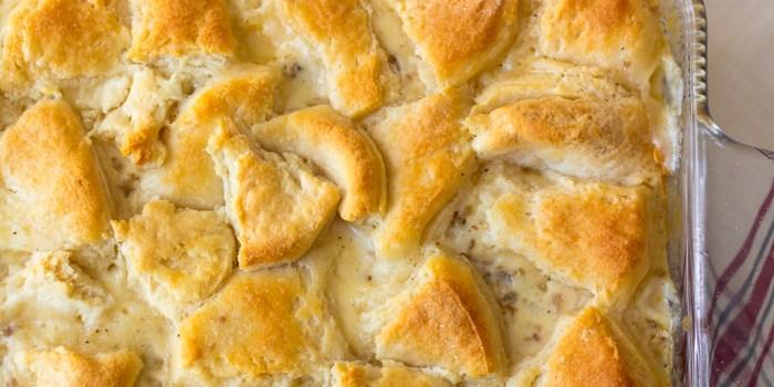 Sausage Gravy & Biscuit Casserole