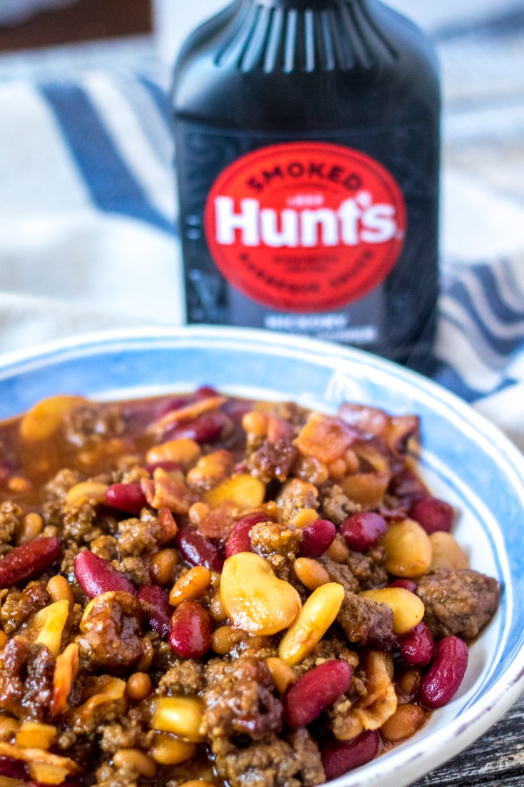 Slow Cooker Beefy Calico Beans Life With The Crust Cut Off