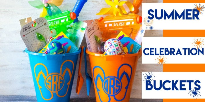 Summer Celebration Buckets