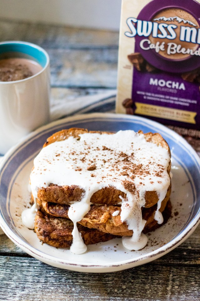 Hot Chocolate French Toast is a delicious new spin on this breakfast classic.  Topped with marshmallow cream it will be your new favorite!
