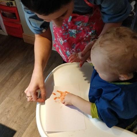 Halloween Baby Handprints