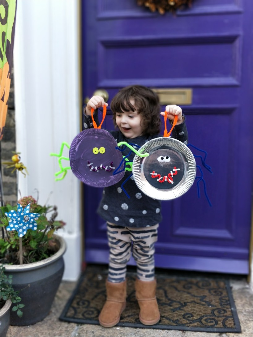 Scary Spider Plate Craft